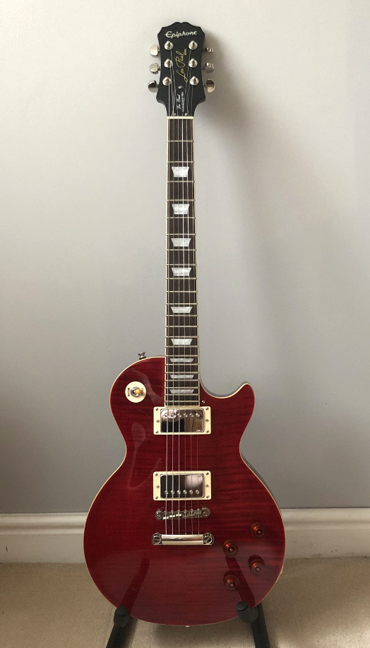Epiphone Les Paul Standard Pro Limited Edition Plus Top in Red Wine