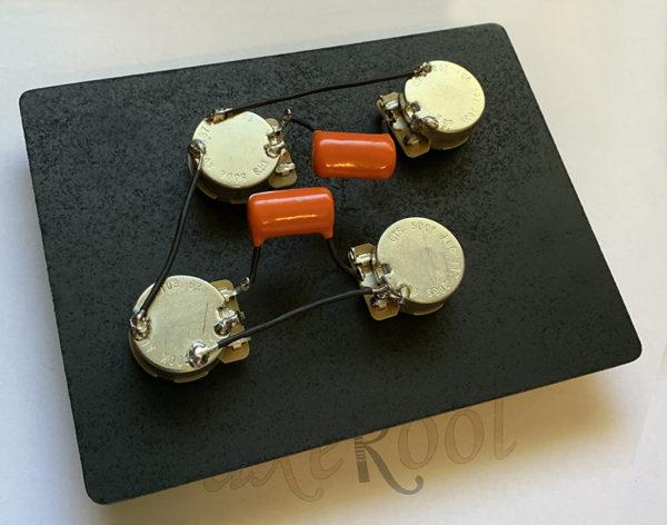 Les Paul 50's Wiring Harness, Short Shaft - Les Paul 50's wiring Loom